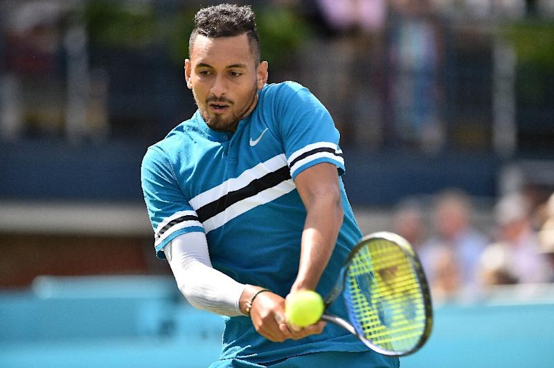 Nick Kyrgios simulates crude sex act at Queen's Club tournament