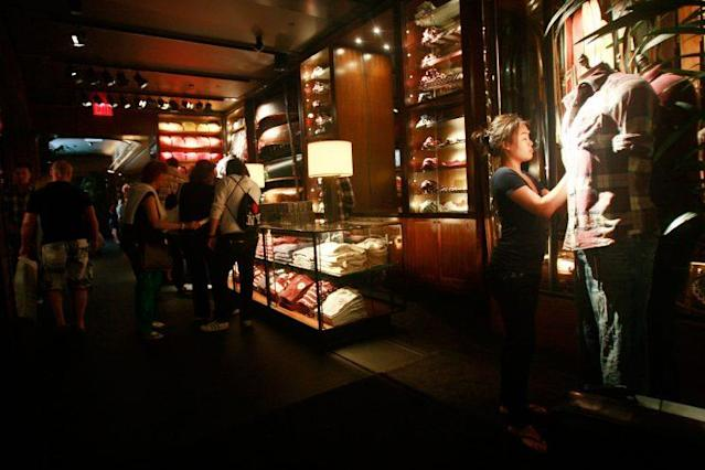 Abercrombie & Fitch stores, like their sister store, Hollister, were known for being dimly lit, incredibly loud, and offensively pungent. (Photo: Getty Images)