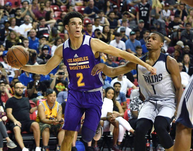 Lonzo Ball and Dennis Smith Jr. might have been the two most impressive players at the Las Vegas summer league. (Getty)