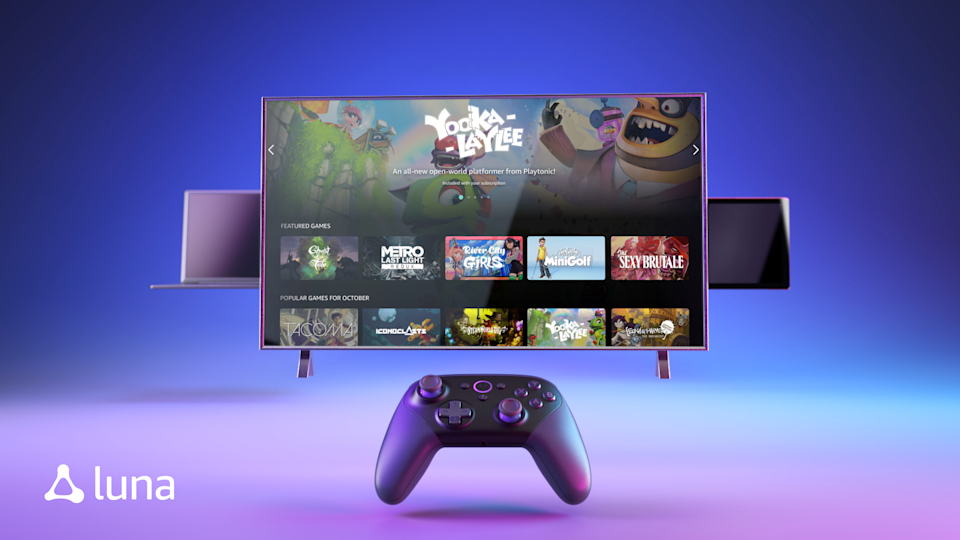 Amazon's Luna cloud gaming service is getting a slew of new features to entire gamers. (Image: Amazon)