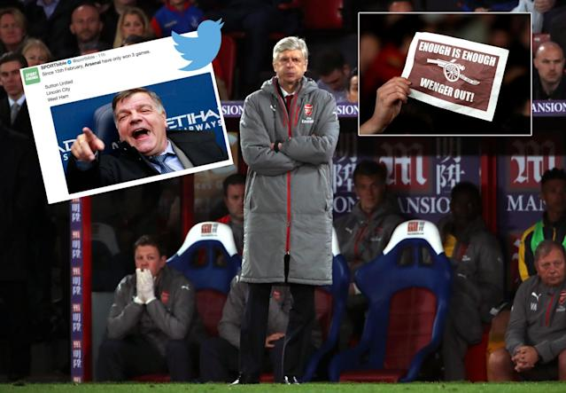 Arsene Wenger's Arsenal have become a laughing stock