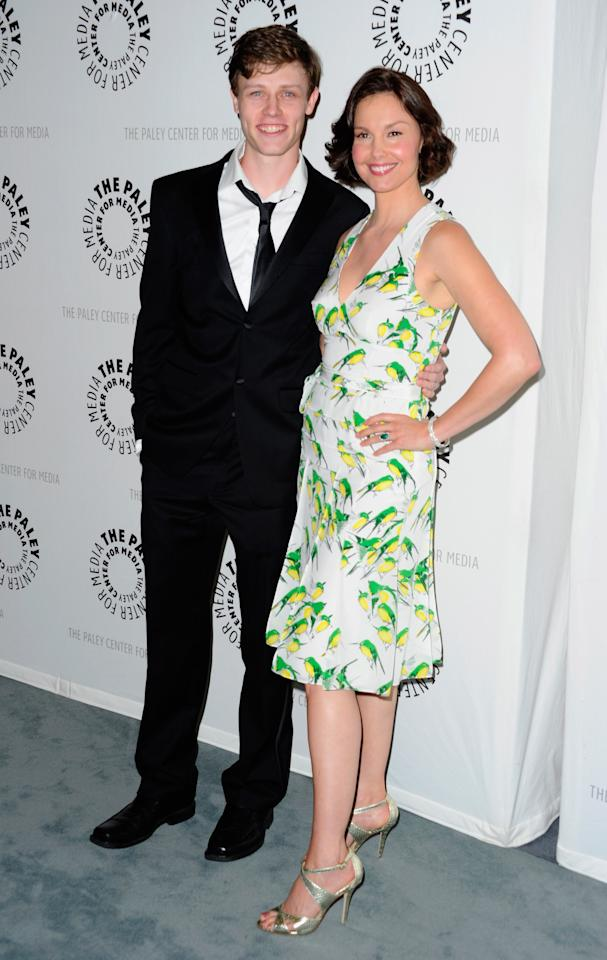 "BEVERLY HILLS, CA - APRIL 10:  Actors Nick Eversman and Ashley Judd arrive to The Paley Center for Media presents A Screening of ABC's ""Missing"" at The Paley Center for Media on April 10, 2012 in Beverly Hills, California.  (Photo by Alberto E. Rodriguez/Getty Images)"
