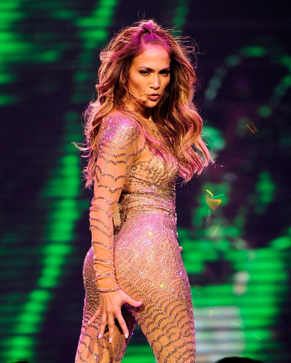 """<p>Everyone knows JLo has moves. (I mean, have you seen her in <em>Hustlers</em>?) Before she added singing and acting to make her a triple threat, JLo was a backup dancer for one of the most popular boy bands: New Kids On The Block. In fact, she's front and center in <a href=""""https://www.youtube.com/watch?v=25an1Eu5W1s"""" rel=""""nofollow noopener"""" target=""""_blank"""" data-ylk=""""slk:this performance from 1991"""" class=""""link rapid-noclick-resp"""">this performance from 1991</a>. That same year, she booked herself as a <a href=""""https://www.womenshealthmag.com/life/a26750453/jennifer-lopez-in-living-color-fly-girl/"""" rel=""""nofollow noopener"""" target=""""_blank"""" data-ylk=""""slk:fly girl on In Living Color"""" class=""""link rapid-noclick-resp"""">fly girl on <em>In Living Color</em></a>. </p><p>In 1993, she launched her acting career, but we still see her dance moves and listen to her expertise on <em>World of Dance</em>. """"I always consider myself as a dancer first,"""" <a href=""""https://www.dailymail.co.uk/tvshowbiz/article-4336994/Jennifer-Lopez-admits-struggling-early-dancer.html"""" rel=""""nofollow noopener"""" target=""""_blank"""" data-ylk=""""slk:JLo said"""" class=""""link rapid-noclick-resp"""">JLo said</a>. """"I became a singer and actress after dancing. For me, it's so part of who I am.""""</p>"""