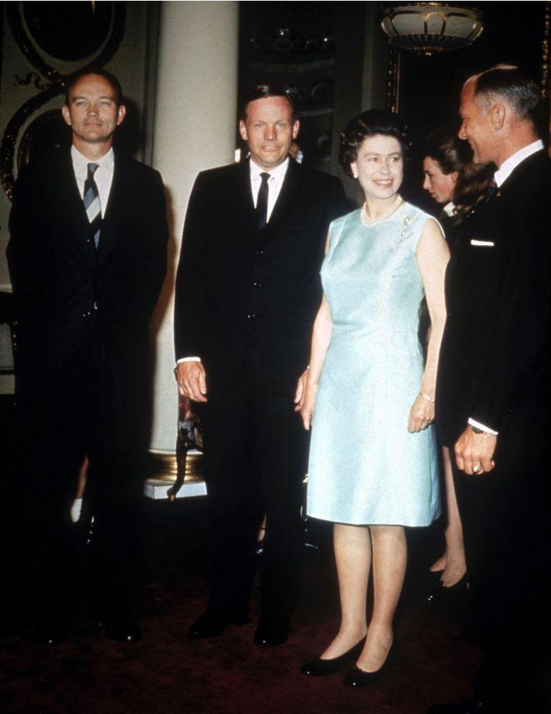 Queen Elizabeth with the Apollo 11 astronauts at Buckingham Palace | Hulton Archive/Getty