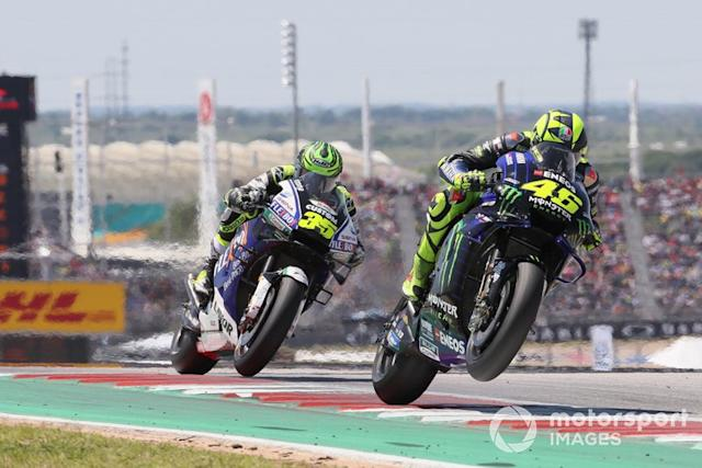 """Valentino Rossi, Yamaha Factory Racing, Cal Crutchlow, Team LCR Honda <span class=""""copyright"""">Gold and Goose / Motorsport Images</span>"""