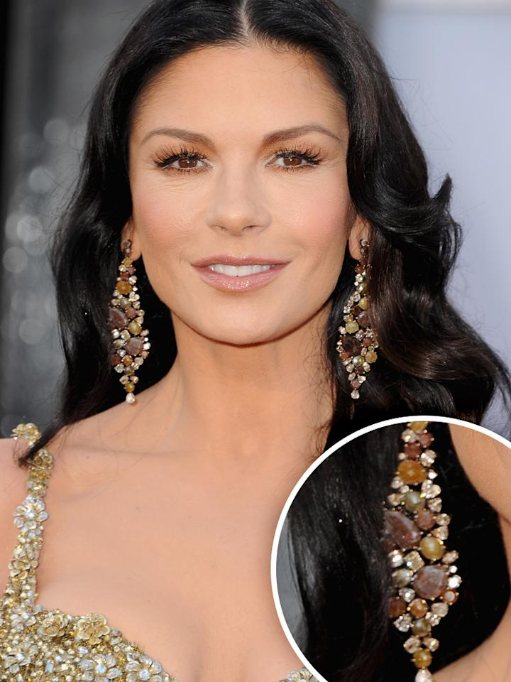 Catherine Zeta-Jones arrives at the Oscars in Hollywood, California, on February 24, 2013.