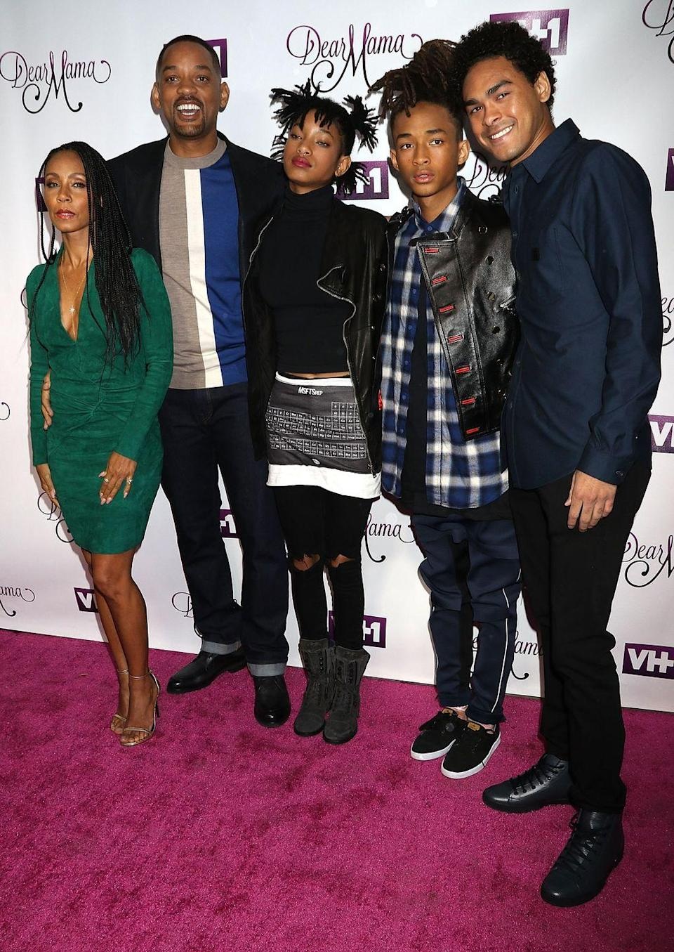 """<p><strong>Children</strong>: Trey Smith (27), Jaden Smith (21), Willow Smith (19) </p><p>The <em>Bad Boys for Life </em>actor is close with his three children, who regularly come out to <a href=""""https://www.oprahmag.com/entertainment/tv-movies/a27555415/will-smith-jada-pinkett-smith-aladdin-premiere-photos/"""" rel=""""nofollow noopener"""" target=""""_blank"""" data-ylk=""""slk:support him at movie premieres"""" class=""""link rapid-noclick-resp"""">support him at movie premieres</a> even as adults. He fathered his eldest, Trey, with his ex Sheree Zampino, and his younger children, Jaden and Willow, with <a href=""""https://www.oprahmag.com/life/relationships-love/a26814630/will-and-jada-pinkett-smith-marriage/"""" rel=""""nofollow noopener"""" target=""""_blank"""" data-ylk=""""slk:longtime wife Jada Pinkett Smith"""" class=""""link rapid-noclick-resp"""">longtime wife Jada Pinkett Smith</a>.</p>"""