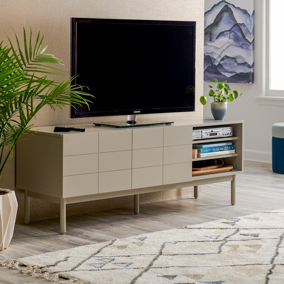 "<a rel=""nofollow"" href=""https://www.walmart.com/ip/MoDRN-Scandinavian-Link-Two-Door-Media-Cabinet/480249161"" rel=""nofollow"">SHOP NOW</a>: MoDRN Scandinavian Link Two Door Media Cabinet, $369"