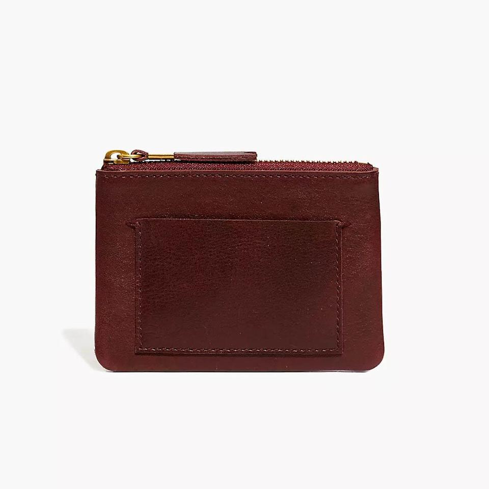 Madewell Leather Pouch Wallet, best stocking stuffer