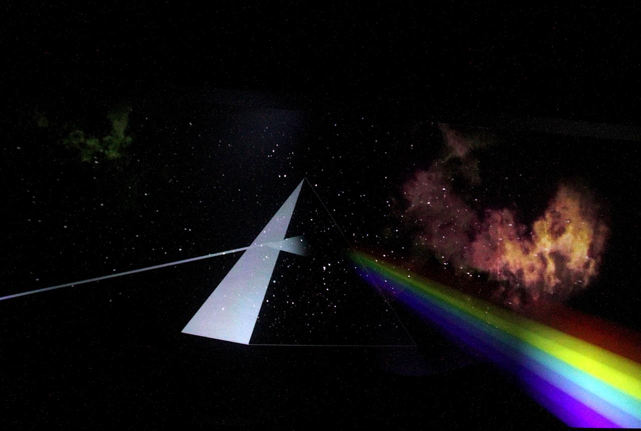"<p>A replica of the ""The Dark Side of the Moon"" from ""The Pink Floyd Exhibition: Their Mortal Remains."" (Photo: Marco Ravagli/Barcroft Media via Getty Images) </p>"