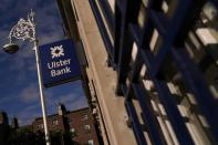 FILE PHOTO: Signage is seen outside a branch of Ulster Bank in Dublin