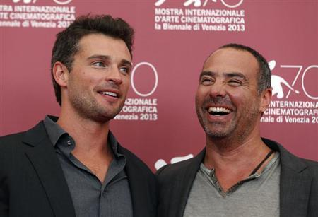 "Actor Tom Welling (L) and director Peter Landesman (R) pose during a photocall for their movie ""Parkland"" at the 70th Venice Film Festival in Venice September 1, 2013. REUTERS/Alessandro Bianchi"