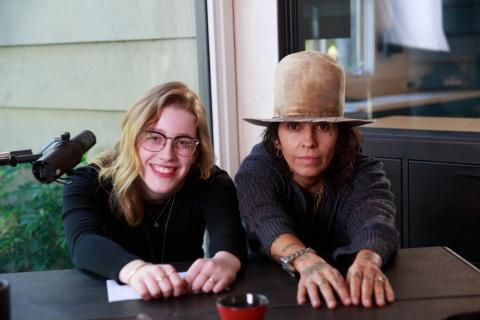 "Willa Amai and Linda Perry on the set of Intuit QuickBooks' film for the ""Backing You"" campaign. (Photo: Business Wire)"
