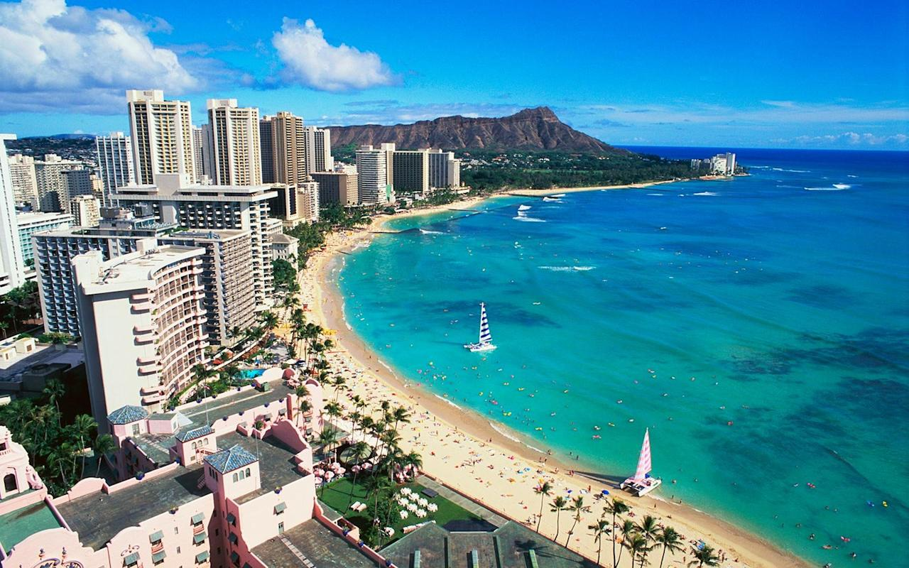 """<p>Tired of tranquil beaches with puny waves? February is big wave season on Oahu, and daredevils congregate around the <a href=""""https://www.gohawaii.com/islands/oahu/regions/north-shore"""" target=""""_blank"""">North Shore</a> to catch swells of up to 30 feet (hint: this kind of surfing is <a href=""""https://www.youtube.com/watch?v=RlC3n0VSGOU"""" target=""""_blank"""">best left to the pros</a>). While this makes for great photo opportunities, other travelers who like to be more hands-on might opt for a <a href=""""https://www.gohawaii.com/islands/oahu/things-to-do/water-activities/whale-watching"""" target=""""_blank"""">whale watching tour</a> in Oahu's southern seas — during the month of February, you're likely to catch a glimpse of a majestic <em>kohola</em>, or humpback whale, making its annual migration.</p>"""