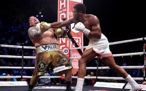 Andy Ruiz Jr. (left) in his fight against Anthony Joshua - Credit: PA