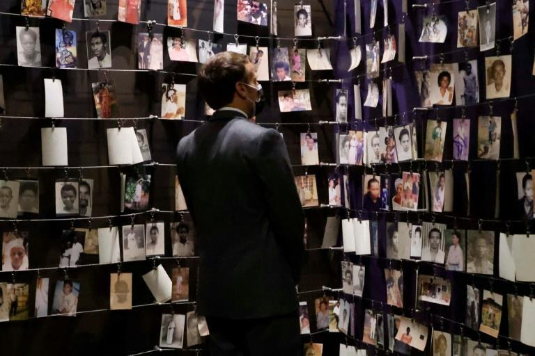 French President Emmanuel Macron visited the Kigali Genocide Memorial during his short trip