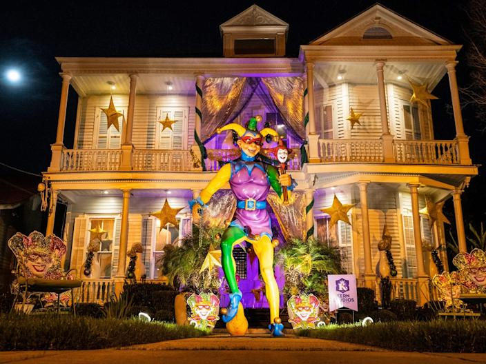 Jester house float New Orleans Mardi Gras 2021