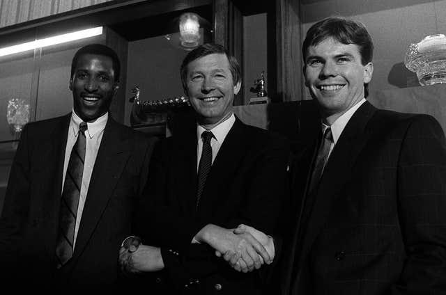 Viv Anderson, left, was in July 1987 signed for Manchester United by Sir Alex Ferguson, along with Brian McClair