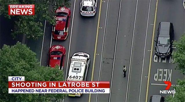 An aerial shot of the scene. Source: 7 News