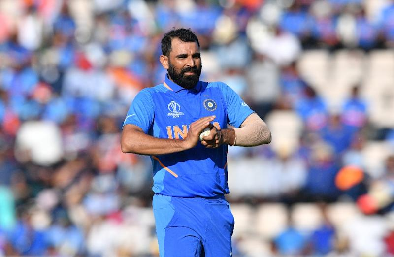 India's Mohammed Shami took a hat-trick against Afghanistan in their World Cup match in Southampton