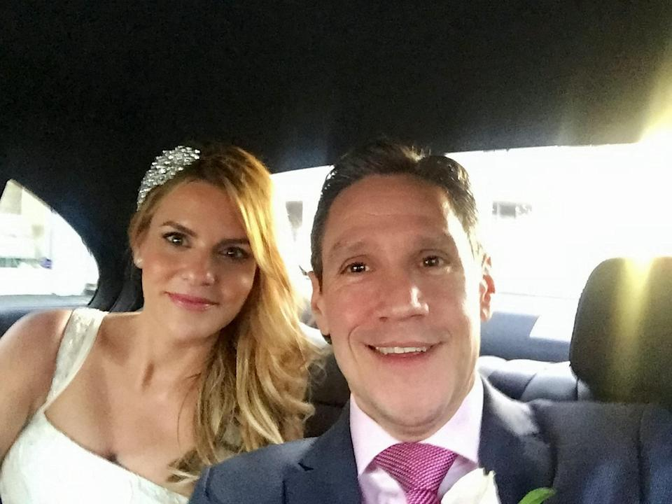 Lina and Michael got married in December (Picture: SWNS)