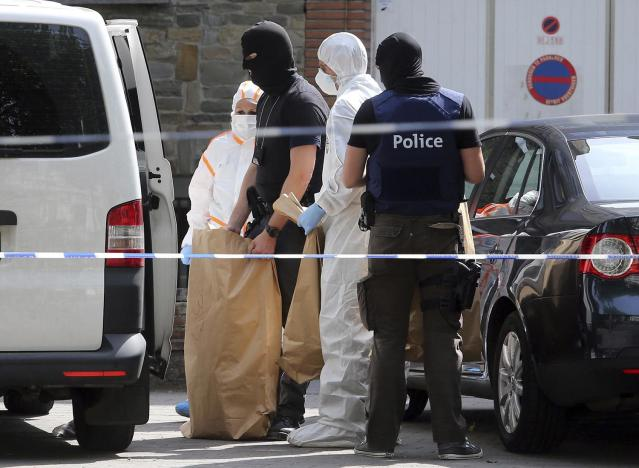 "<p>Police and forensic officers work during a house search in the Molenbeek district of Brussels on Wednesday, June 21, 2017. Belgian authorities said they foiled a ""terror attack"" when soldiers shot a suspect in the heart of Brussels after a small explosion at a busy train station Tuesday on a night that continued a week of attacks in the capitals of Europe. (Francois Walschaerts/AP) </p>"