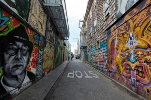 This image was shown as an example of planning murals in the context of an area.