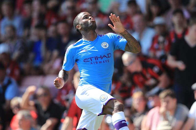 Raheem Sterling scored City's second goal of the game. (Credit: Getty Images)