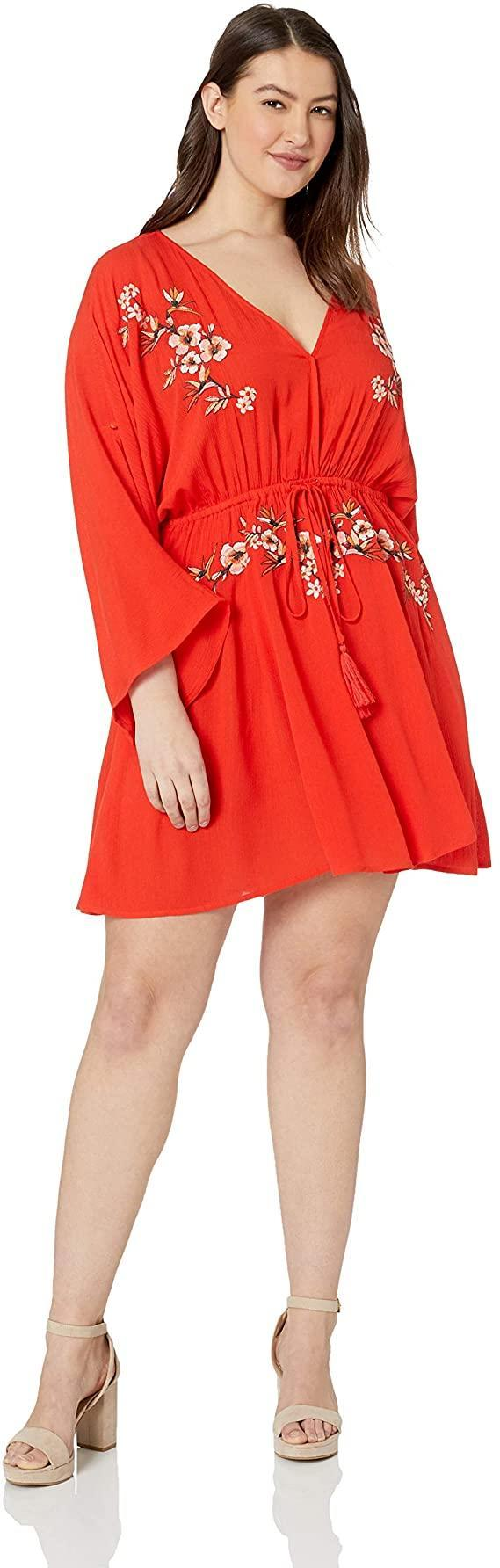 """<br> <br> <strong>City Chic</strong> Embroidered Swing Dress, $, available at <a href=""""https://www.amazon.com/City-Chic-Womens-Apparel-Embroidered/dp/B07HY9NFCB/ref=sr_1_149"""" rel=""""nofollow noopener"""" target=""""_blank"""" data-ylk=""""slk:Amazon"""" class=""""link rapid-noclick-resp"""">Amazon</a>"""