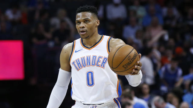 "Thunder guard Russell Westbrook told reporters that announcer Brian Davis' ""cotton-picking"" comment wasn't OK, but that the team wanted to move on. (AP)"