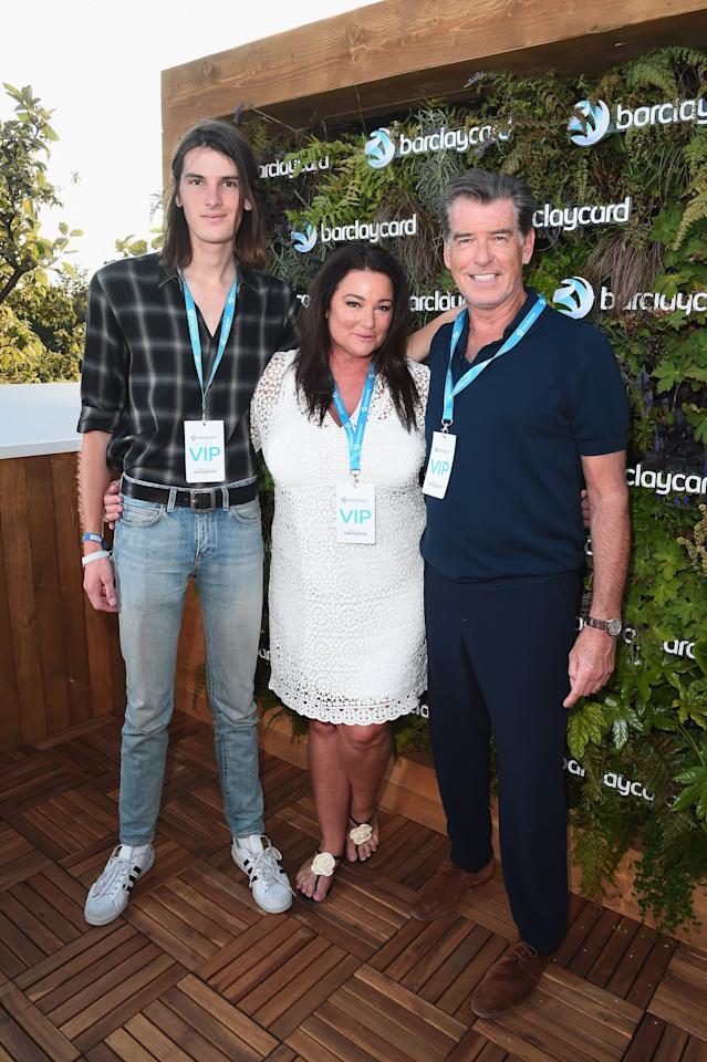 """<p>Dylan was born on Jan. 13, 1997 to actor <a href=""""https://www.popsugar.com/celebrity/Pierce-Brosnan-Keely-Shaye-Smith-Cute-Photos-43579828"""" class=""""ga-track"""" data-ga-category=""""Related"""" data-ga-label=""""https://www.popsugar.com/celebrity/Pierce-Brosnan-Keely-Shaye-Smith-Cute-Photos-43579828"""" data-ga-action=""""In-Line Links"""">Pierce Brosnan and journalist Keely Shaye Smith</a>. Pierce and Keely are also parents to 18-year-old son Paris and share the actor's three other kids - sons Christopher and Sean and daughter Charlotte - from his previous marriage to actress Cassandra Harris.</p>"""