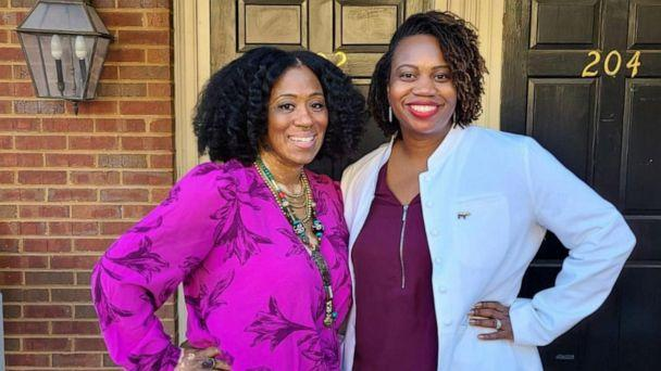 PHOTO: Dayka Robinson, left, and Dr. Soyini Hawkins, a minimally invasive gynecological surgeon, both suffered from fibroids. (ABC)