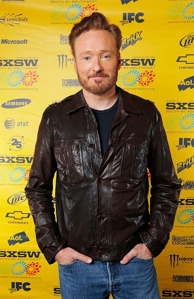 "April 18: Conan O'Brien turns 48 Mary Sledd//<a href=""http://www.wireimage.com"" target=""new"">WireImage.com</a> - March 13, 2011"