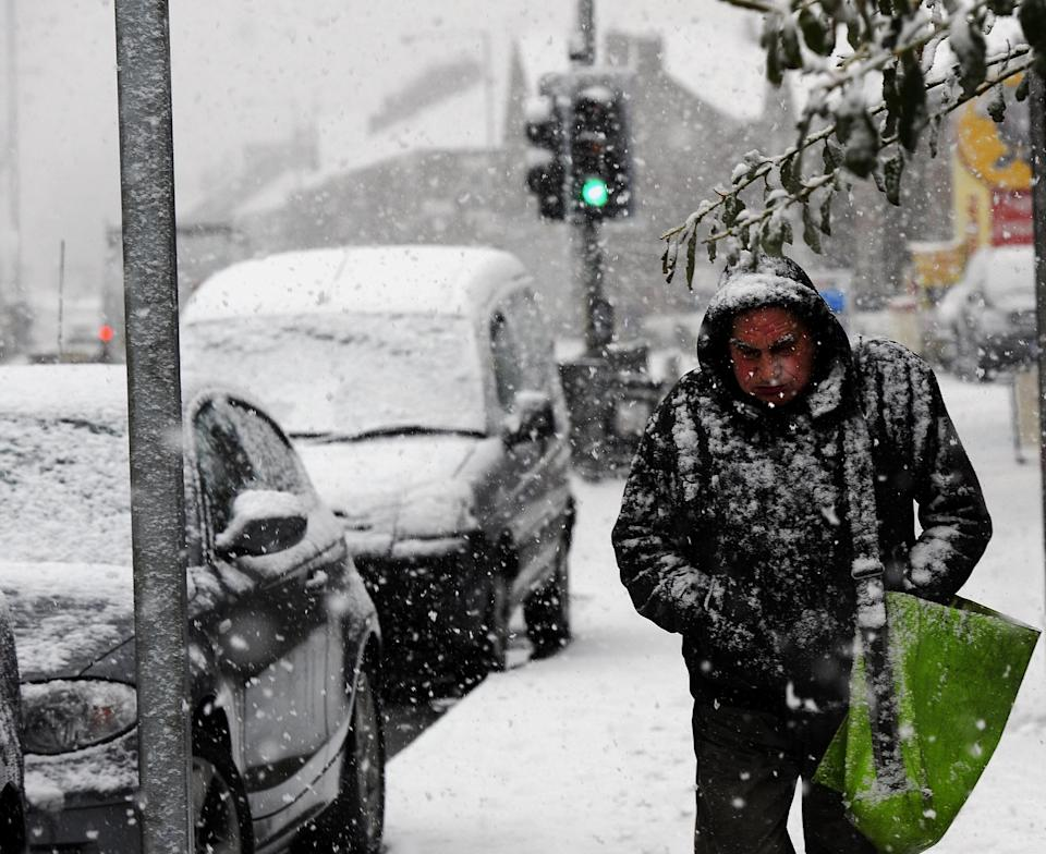 Heavy snowfalls in Gateshead were similar to scenes across the country. (Getty)