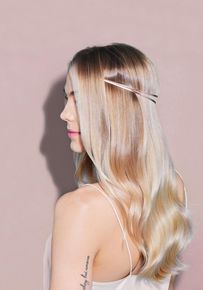 """<p>Forget what you know about wearing headbands. To show off shiny, cascading waves, slant it backward. (It's the 2017 answer to the flower crown.)</p><p><em>Jen Atkin x Chloe + Isabel Split Headband, $22, <a rel=""""nofollow"""" href=""""https://www.chloeandisabel.com/products/H031RG/split-headband?mbid=synd_yahoostyle"""">chloeandisabel.com</a></em></p>"""