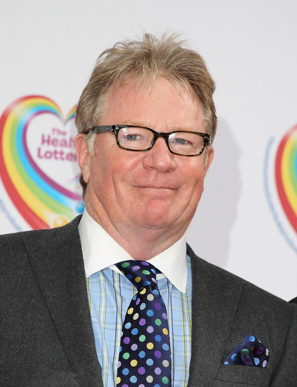 Jim Davidson arriving at The Health Lottery Tea Party at the Savoy Hotel in London.