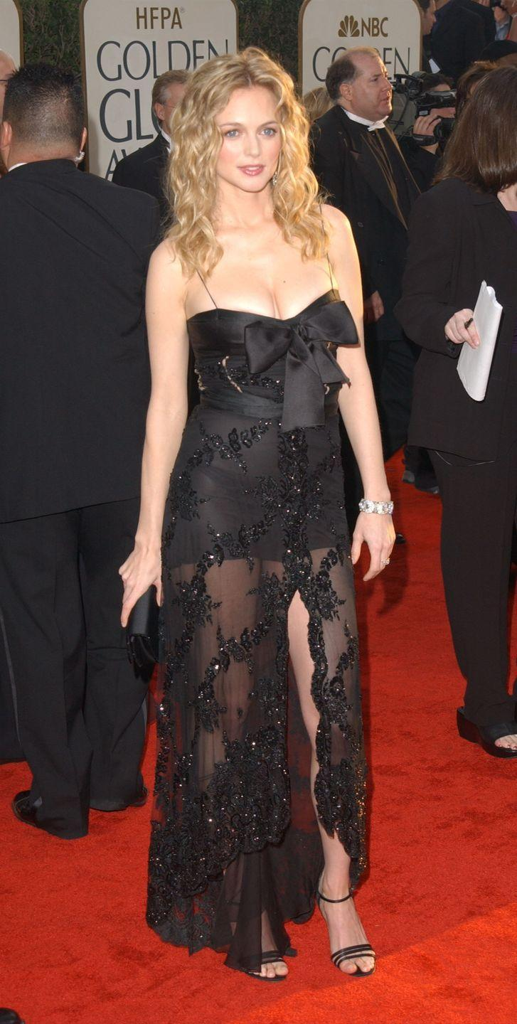 <p>A sheer skirt and ample décolletage was sure to land Graham on the sexiest dressed list in 2003.</p>