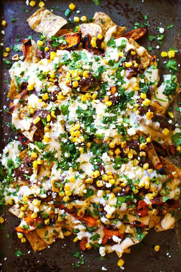 "<strong>Get the <a href=""http://pinchofyum.com/healthy-grilled-sweet-potato-nachos"" target=""_blank"">Healthy Grilled Sweet Potato Nachos recipe</a> from Pinch of Yum</strong>"
