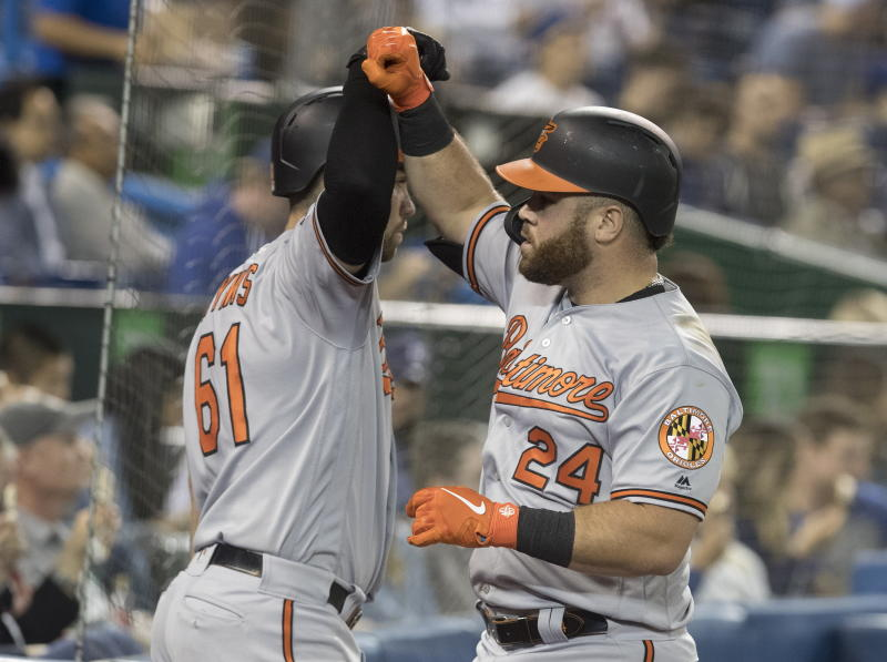 Mancini has career-high 5 hits, Orioles rout Blue Jays 11-4