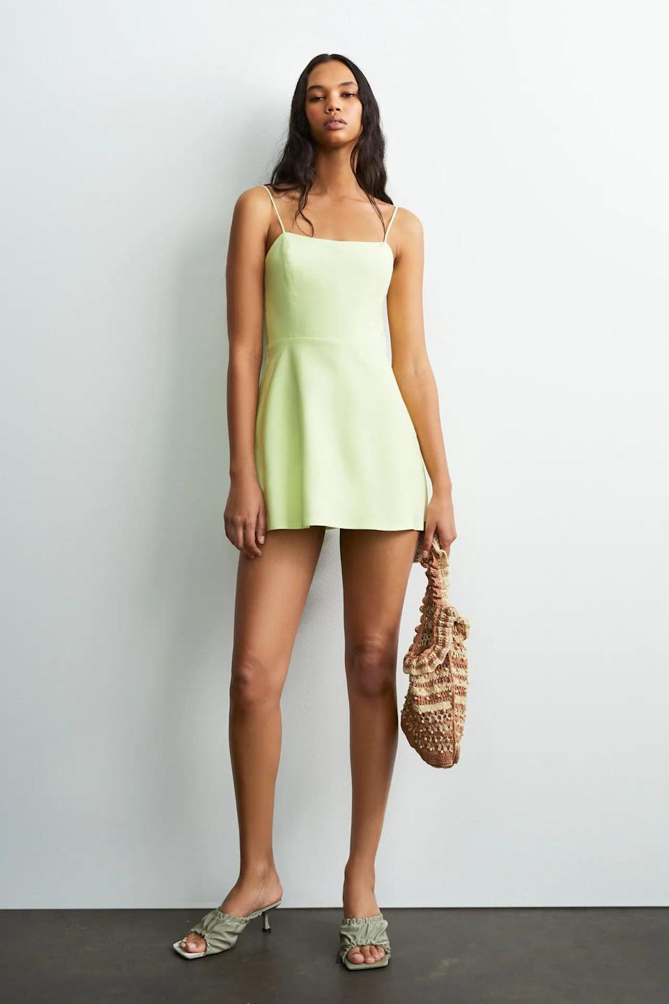 <p>This <span>Strappy Linen Blend Jumpsuit Dress</span> ($40) is a lovely pick for spring brunches.</p>