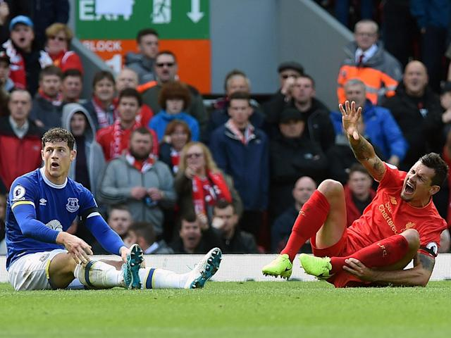 Ross Barkley let his emotions get the better of him as Everton suffered a 3-1 defeat in the Merseyside derby: Getty