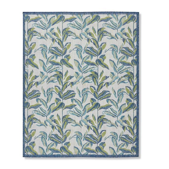 Cecily Palm Indoor/Outdoor Rug. Image via Frontgate.