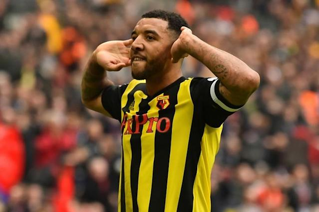 Watford striker Troy Deeney will be hoping to lead his club to safety (AFP Photo/Glyn KIRK )