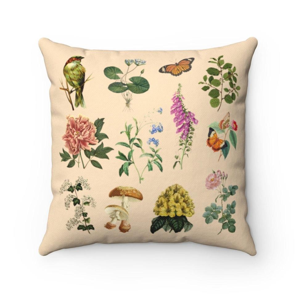 """If you're not a plant parent but want to bring greenery into your space, you can't go wrong with this pillow.<a href=""""https://fave.co/3krkiRf"""" target=""""_blank"""" rel=""""noopener noreferrer"""">Find it for $24 on Etsy</a>."""