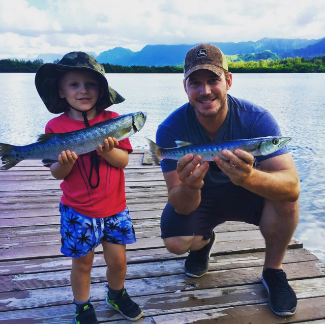"<p>Apologies to all other fishing buddies on the planet because there is <a href=""https://www.yahoo.com/celebrity/chris-pratt-son-cutest-fishing-buddies-around-210729891.html"" data-ylk=""slk:no way you could be cuter than these two"" class=""link rapid-noclick-resp"">no way you could be cuter than these two</a>. Under the camo hats are <em>Guardians of the Galaxy</em> star Chris Pratt and his nearly 5-year-old son, Jack. ""Not sure what made me more proud: When Jack insisted on holding this barracuda himself, or when he tried it raw!"" wrote the actor, who is married to Anna Faris, in June. ""No better way to share God's bounty with your babies and make life long memories than fishing! Get out on the water!"" (Photo: <a href=""https://www.instagram.com/p/BV7mBk4j_Ni/?hl=en"" rel=""nofollow noopener"" target=""_blank"" data-ylk=""slk:Chris Pratt via Instagram"" class=""link rapid-noclick-resp"">Chris Pratt via Instagram</a>) </p>"