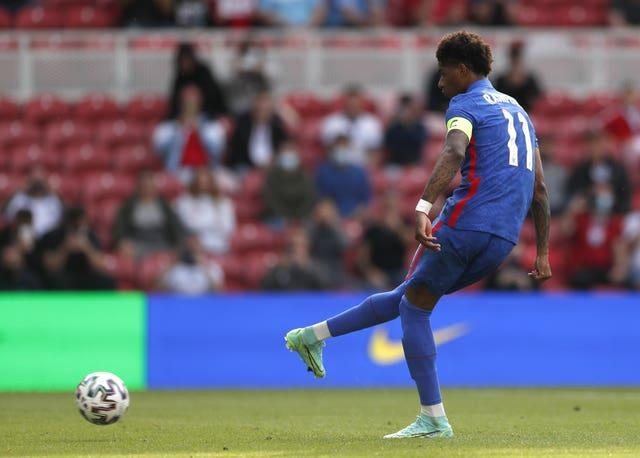 Marcus Rashford's penalty steered England to victory in their final warm-up game.