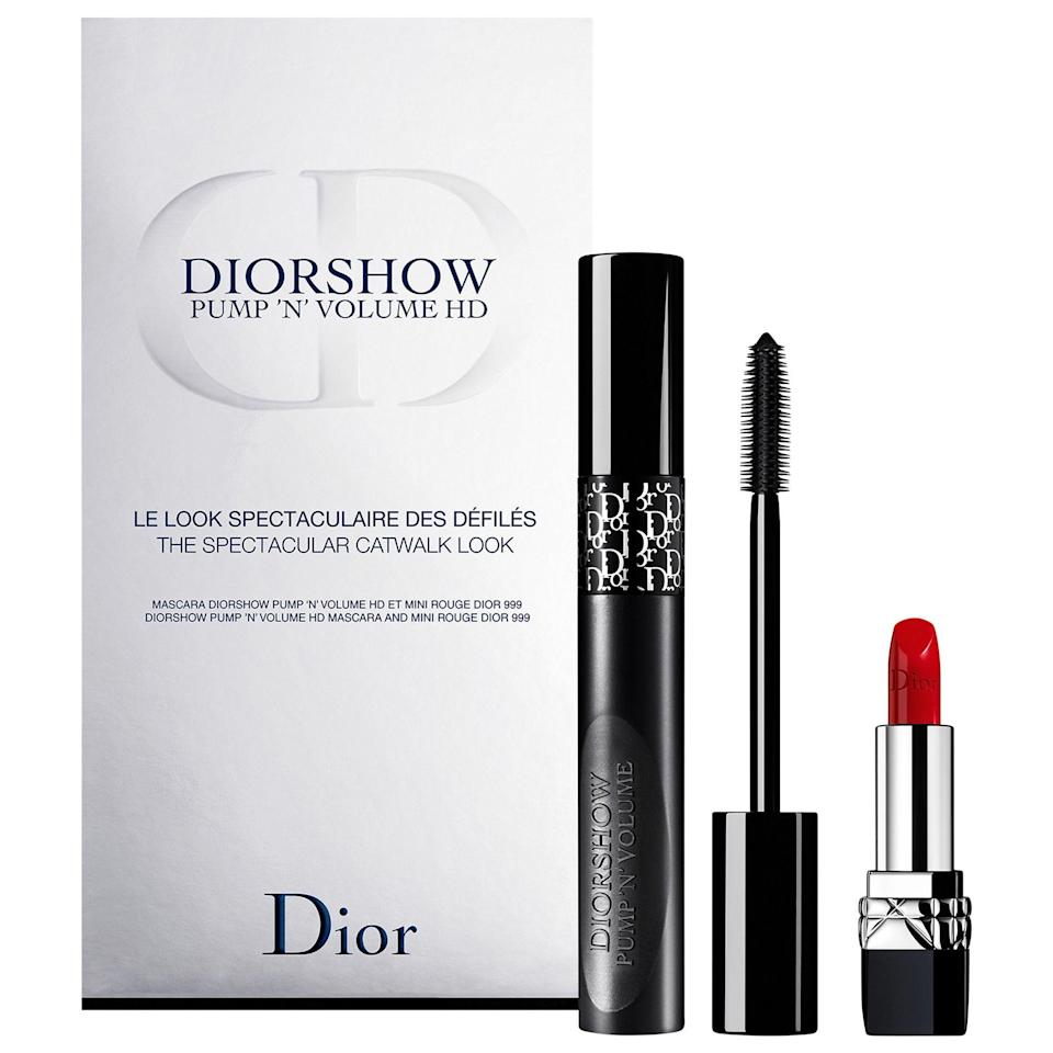 """<p><strong>Dior</strong></p><p>sephora.com</p><p><strong>$29.50</strong></p><p><a href=""""https://go.redirectingat.com?id=74968X1596630&url=https%3A%2F%2Fwww.sephora.com%2Fproduct%2Fdior-diorshow-pump-n-volume-mascara-lipstick-set-P455409&sref=https%3A%2F%2Fwww.menshealth.com%2Ftechnology-gear%2Fg32270252%2Fcheap-mothers-day-gifts%2F"""" rel=""""nofollow noopener"""" target=""""_blank"""" data-ylk=""""slk:BUY IT HERE"""" class=""""link rapid-noclick-resp"""">BUY IT HERE</a></p><p>For the mom who dolls up, this makeup gift set by Dior will give her an excuse to plump her lashes and pout her lips on her next night out. </p>"""