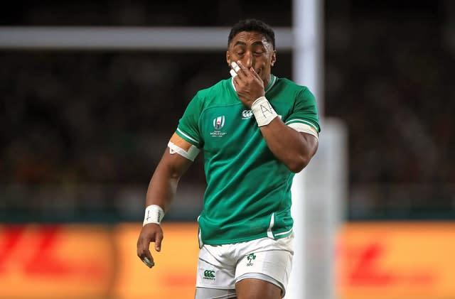 Bundee Aki was just the fourth Irish player to be sent off in a Test match (Adam Davy/PA)