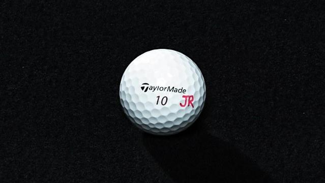 <strong>BIRTHDAY BALL</strong><br> I use a No. 10 TaylorMade TP5x because I was born on Nov. 10. It's amazing in the wind. It can blow 5 to 10 miles per hour, and the ball plays like the wind isn't there.
