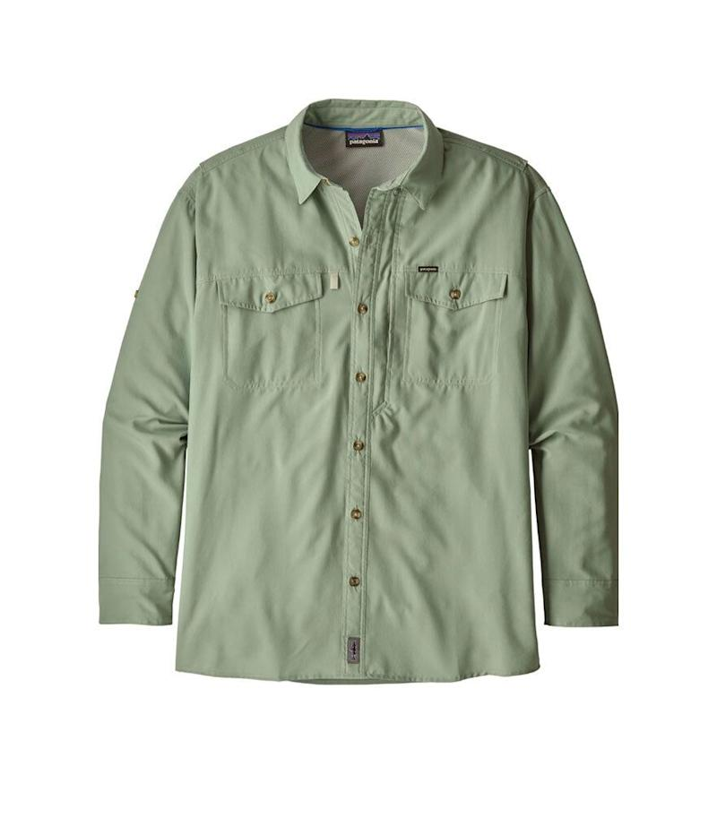 Patagonia Men's 50+ UPF Sol Patrol Long Sleeve Button Down Shirt (Photo: Amazon)